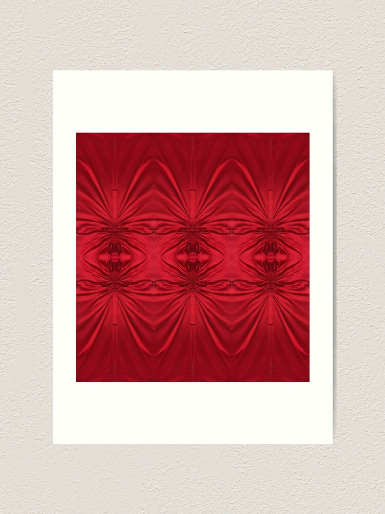 Alternate view of #red #maroon #symmetry #abstract #illustration #design #art #pattern #textile #decoration #vertical #backgrounds #textured #colors Art Print