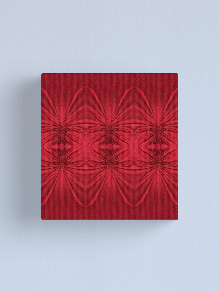 Alternate view of #red #maroon #symmetry #abstract #illustration #design #art #pattern #textile #decoration #vertical #backgrounds #textured #colors Canvas Print