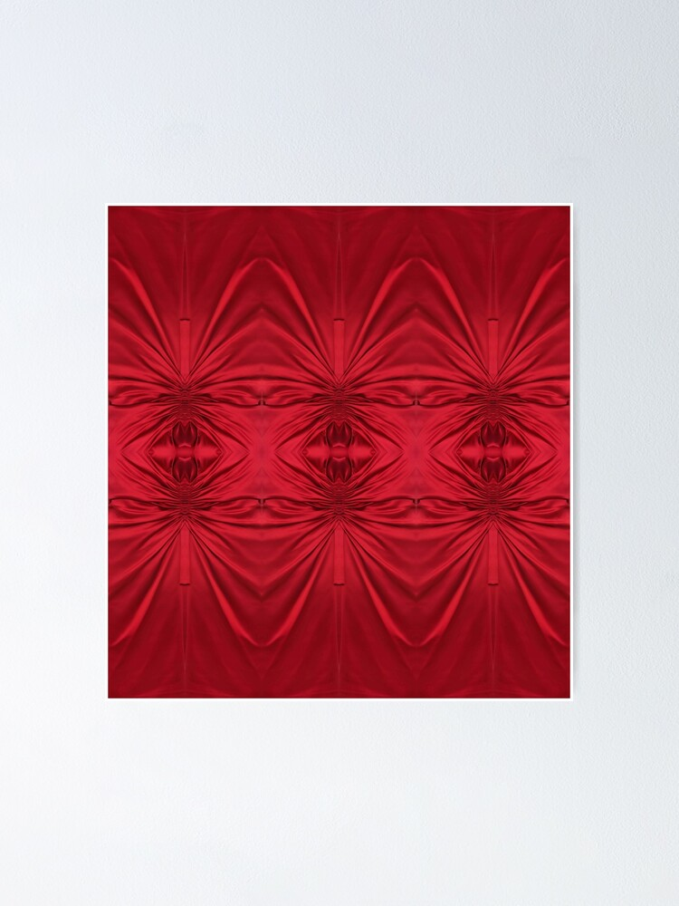 Alternate view of #red #maroon #symmetry #abstract #illustration #design #art #pattern #textile #decoration #vertical #backgrounds #textured #colors Poster