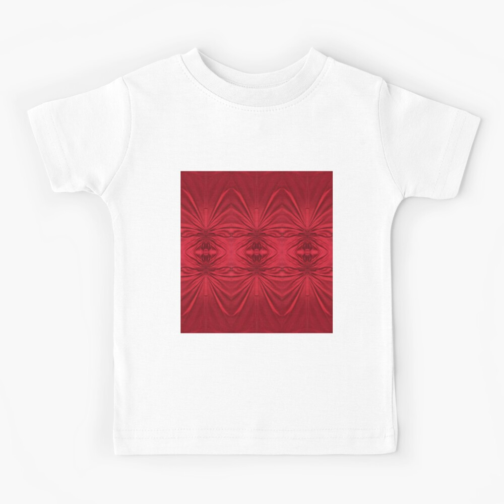 #red #maroon #symmetry #abstract #illustration #design #art #pattern #textile #decoration #vertical #backgrounds #textured #colors Kids T-Shirt