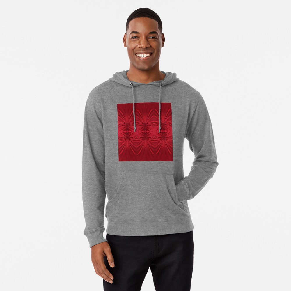 #red #maroon #symmetry #abstract #illustration #design #art #pattern #textile #decoration #vertical #backgrounds #textured #colors Lightweight Hoodie