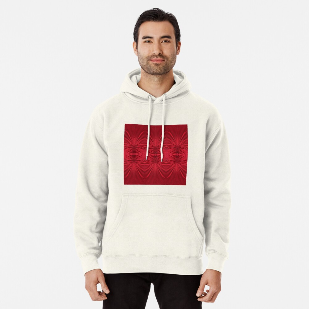 #red #maroon #symmetry #abstract #illustration #design #art #pattern #textile #decoration #vertical #backgrounds #textured #colors Pullover Hoodie