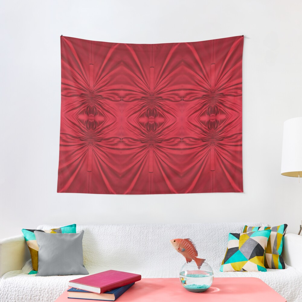 #red #maroon #symmetry #abstract #illustration #design #art #pattern #textile #decoration #vertical #backgrounds #textured #colors Tapestry