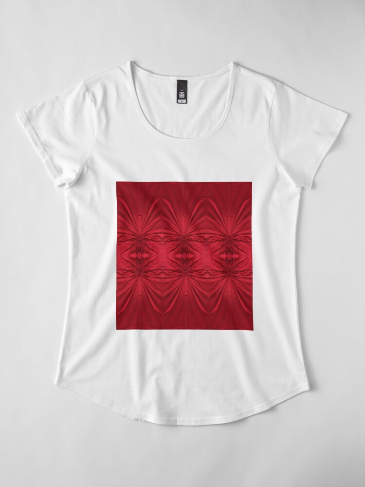 Alternate view of #red #maroon #symmetry #abstract #illustration #design #art #pattern #textile #decoration #vertical #backgrounds #textured #colors Premium Scoop T-Shirt
