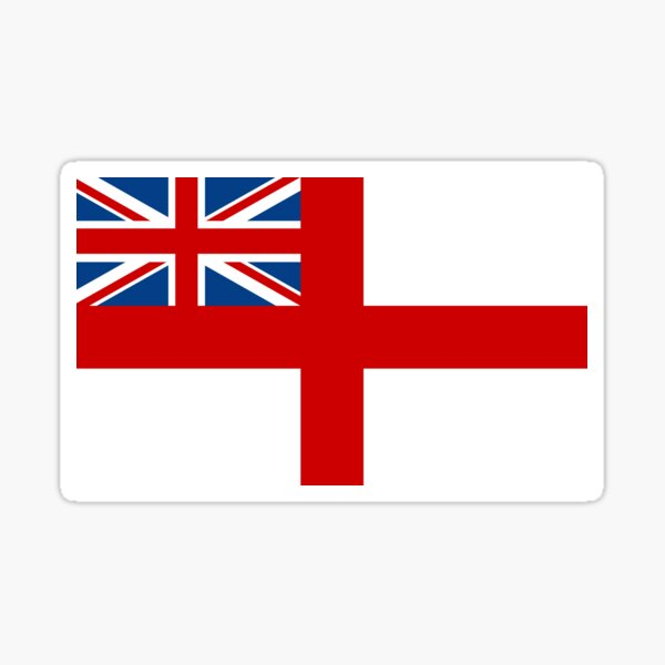 ROYAL WHITE ENSIGN - GREAT BRITAIN Sticker