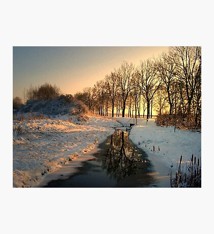 Stream in January Photographic Print