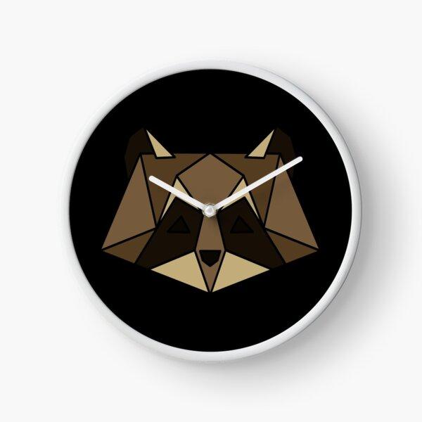 Geometric Raccoon Clock