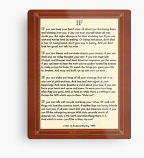 Wenn Zitat von Rudyard Kipling Metallbild