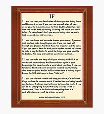 If Quote By Rudyard Kipling Photographic Print