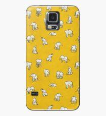 Funda/vinilo para Samsung Galaxy Elefantes en amarillo