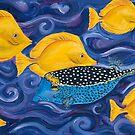 Box fish and Yellow Tang by Julie Ann Accornero