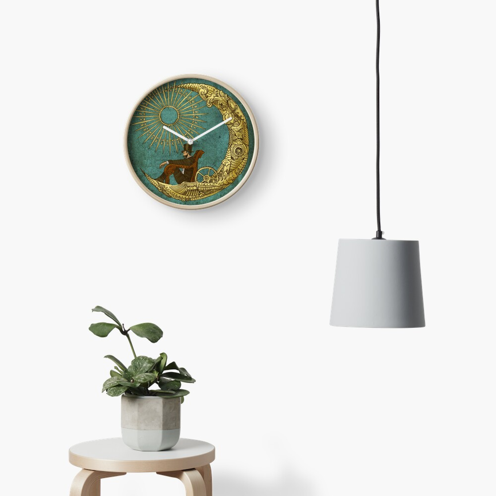 Moon Travel Clock