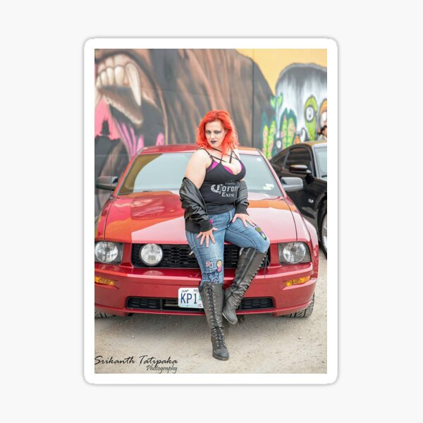 Red Mustang  Sticker