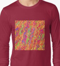 Abstract color streams Long Sleeve T-Shirt