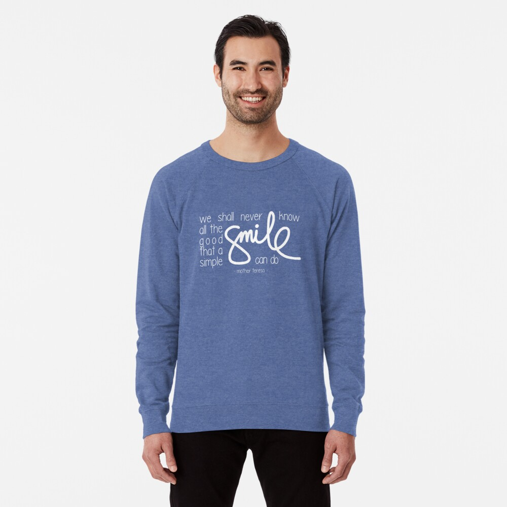 A simple smile (dark) Lightweight Sweatshirt