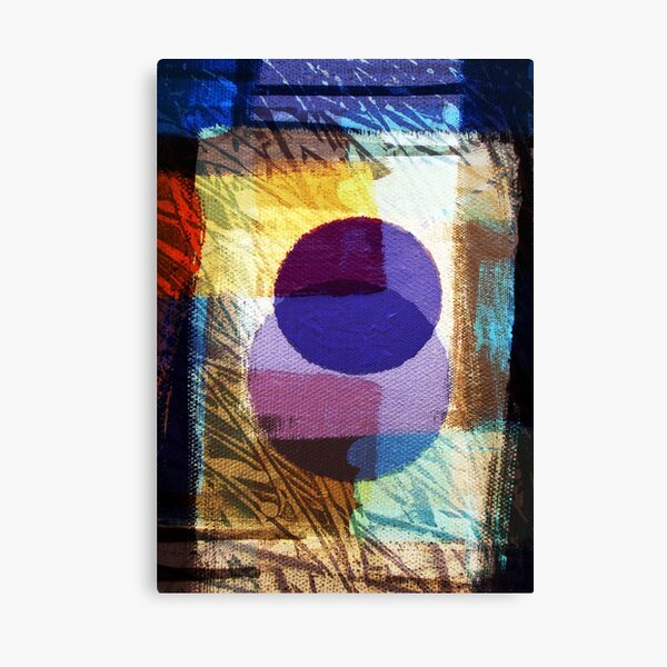 First Day/Evening Digital Collage Painting-Print by Jenny Meehan  Canvas Print