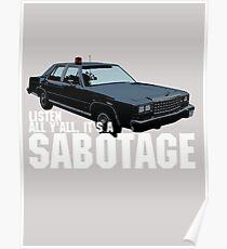 Póster Sabotaje Beastie Boys Car Tshirt