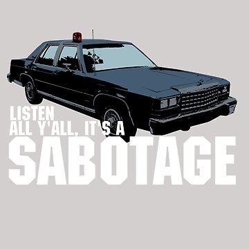 Sabotage Beastie Boys Car Tshirt by theshirtnerd