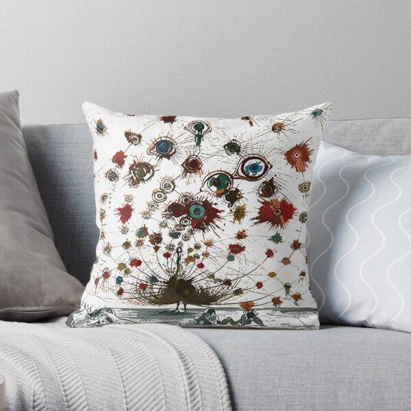 #painting #illustration #vector #design #art #abstract #decoration #flower #element #pattern #nature #horizontal #retrostyle #SalvadorDali Throw Pillow