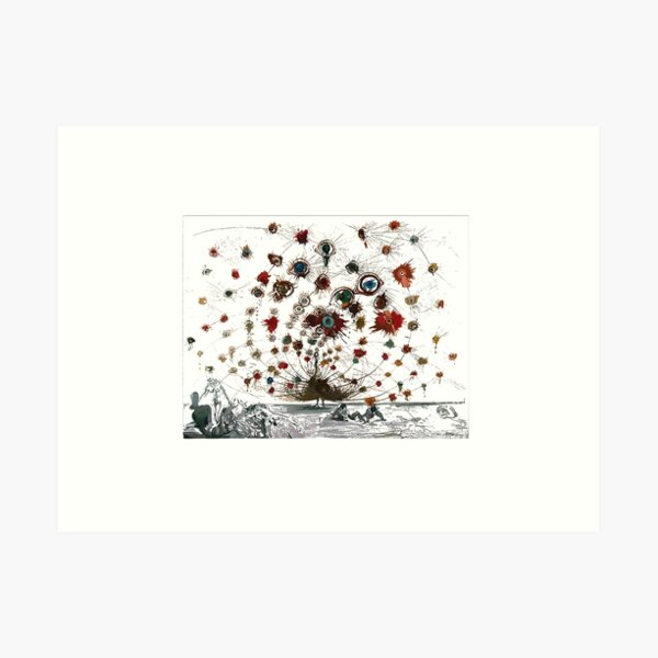 #painting #illustration #vector #design #art #abstract #decoration #flower #element #pattern #nature #horizontal #retrostyle #SalvadorDali Art Print