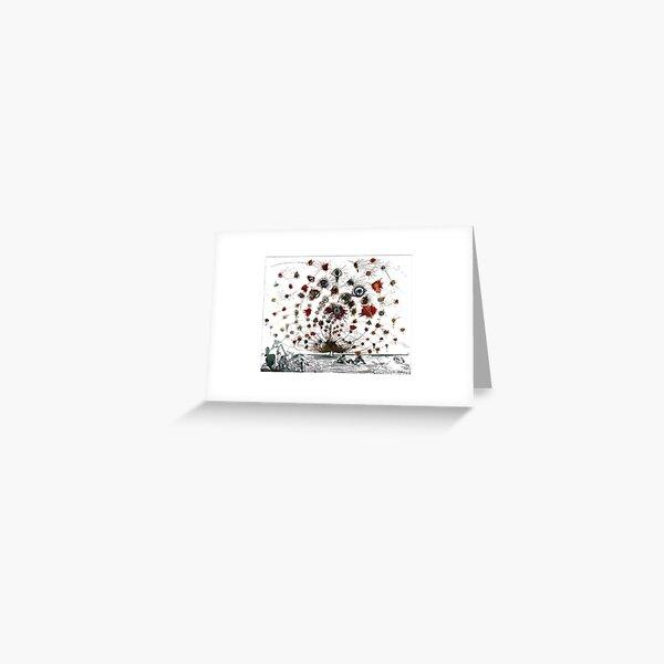 #painting #illustration #vector #design #art #abstract #decoration #flower #element #pattern #nature #horizontal #retrostyle #SalvadorDali Greeting Card