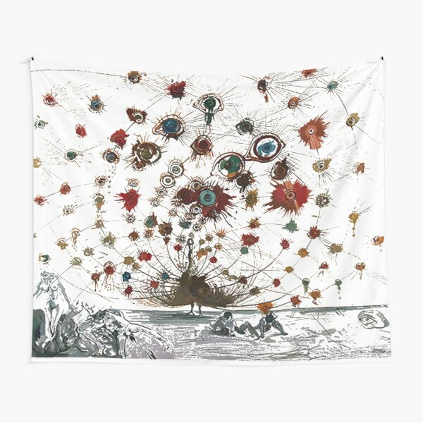#painting #illustration #vector #design #art #abstract #decoration #flower #element #pattern #nature #horizontal #retrostyle #SalvadorDali Tapestry