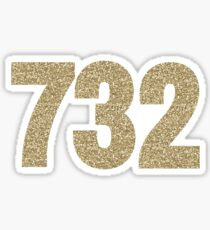 732 Gold Glitter Sticker