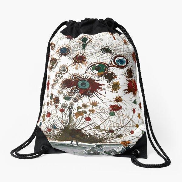 #painting #illustration #vector #design #art #abstract #decoration #flower #element #pattern #nature #horizontal #retrostyle #SalvadorDali Drawstring Bag