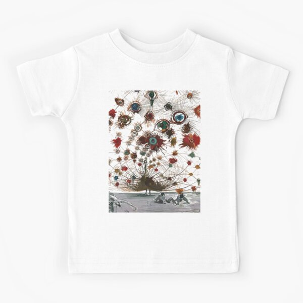 #painting #illustration #vector #design #art #abstract #decoration #flower #element #pattern #nature #horizontal #retrostyle #SalvadorDali Kids T-Shirt