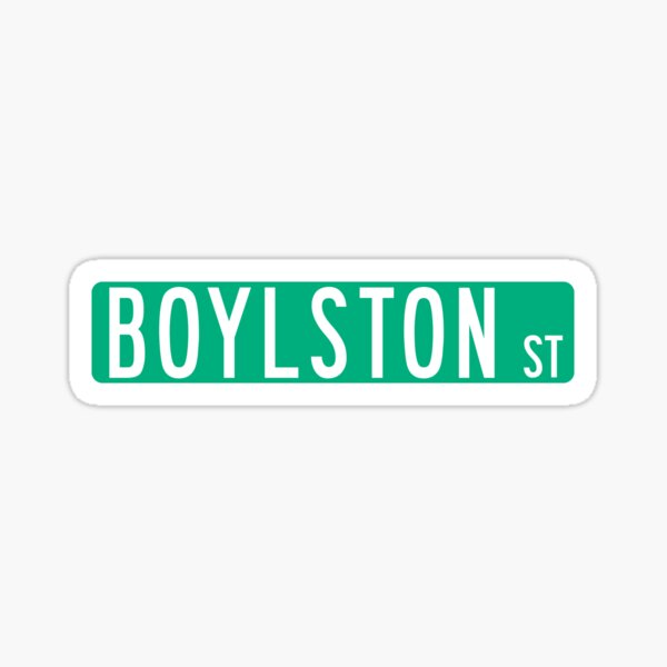 BOYLSTON STREET Sticker