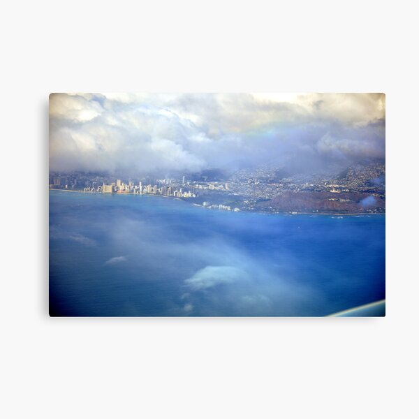 Bird view over Waikiki Canvas Print
