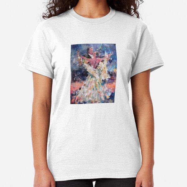 Ballroom Dancing Art Gallery - Waltzing Couple Classic T-Shirt