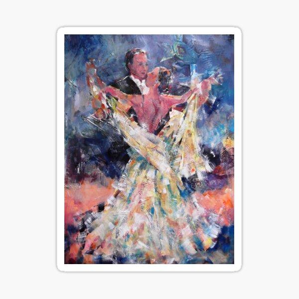 Ballroom Dancing Art Gallery - Waltzing Couple Sticker