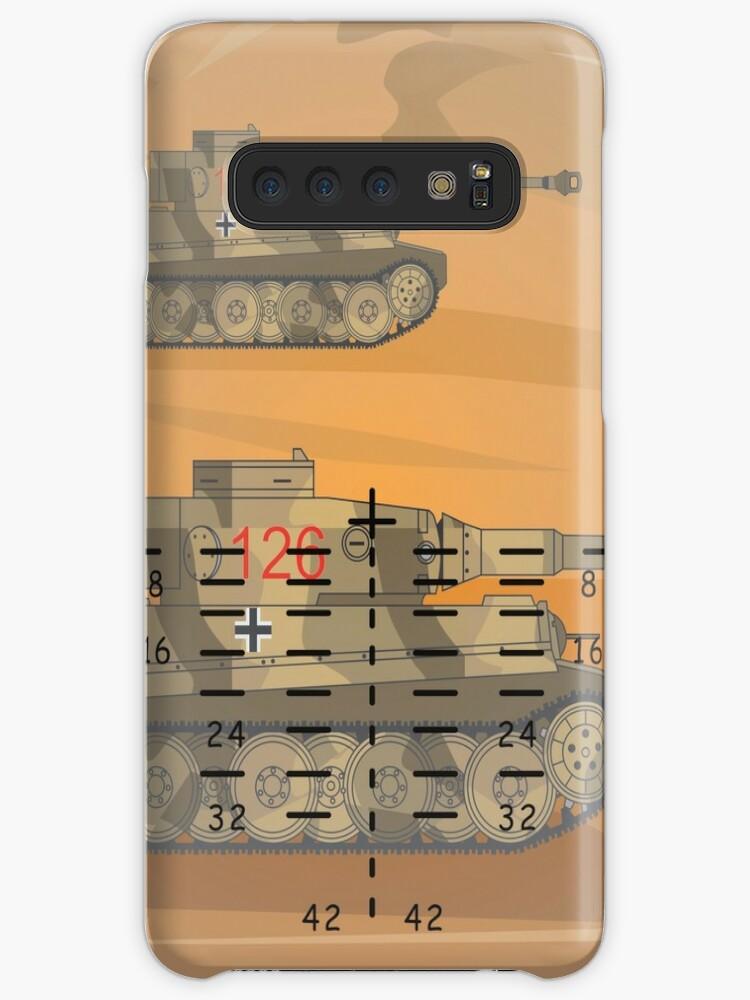 'Tiger Tanks In Sherman Tank Gun Sights World War II German Panzer Tank'  Case/Skin for Samsung Galaxy by Battlefield