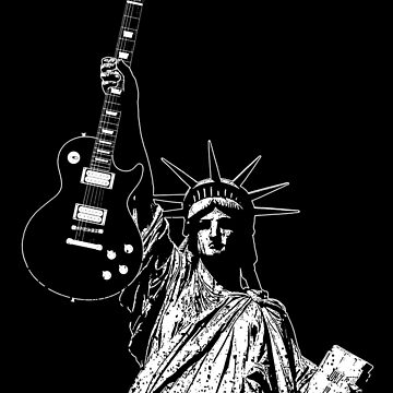 Liberty Rock in the free world - Gibson - Statue - Music-Rock-Blues-Metal by carlosafmarques