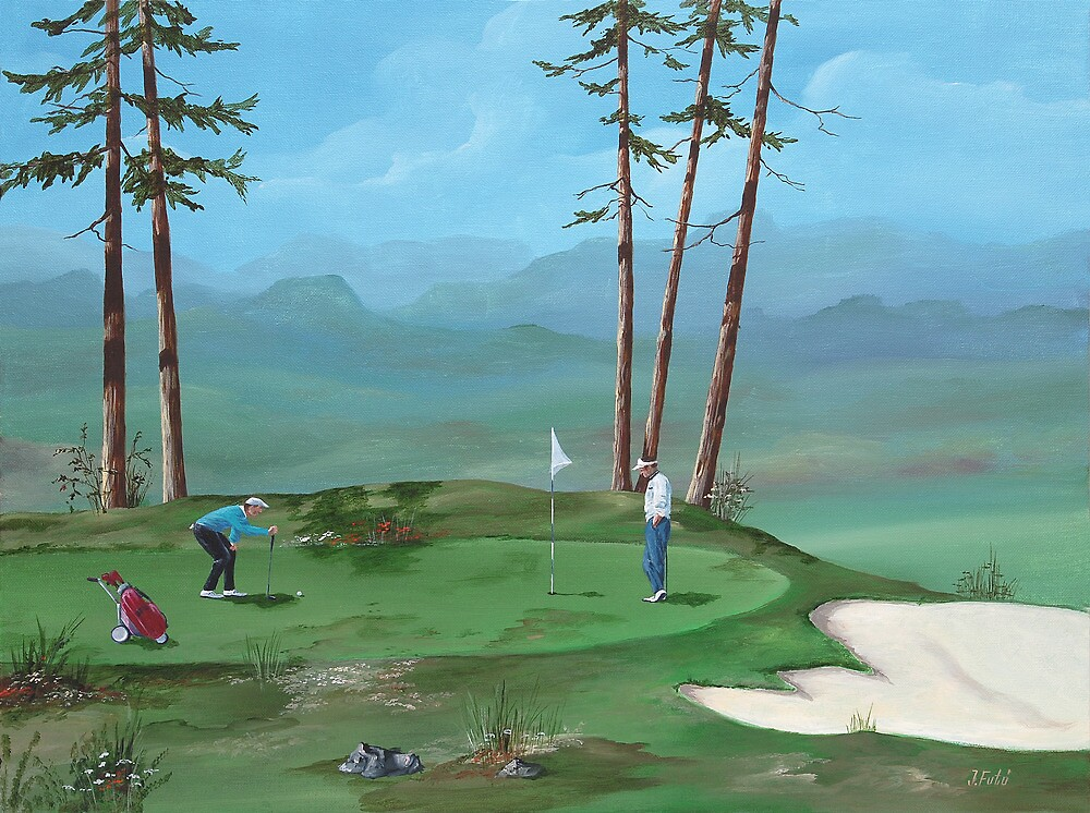 Golfers by Jeno Futo