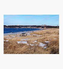Snowy Montauk Seashore Photographic Print