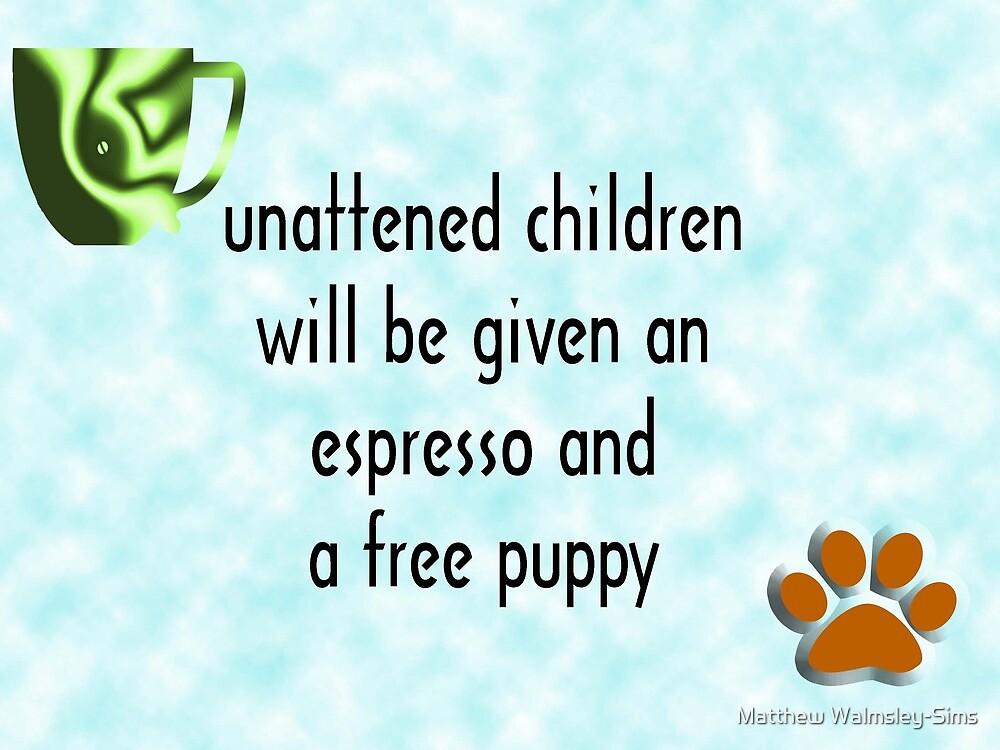 Unattended children by Matthew Walmsley-Sims