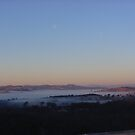 Bega Valley, NSW, view early morning mist by BronReid