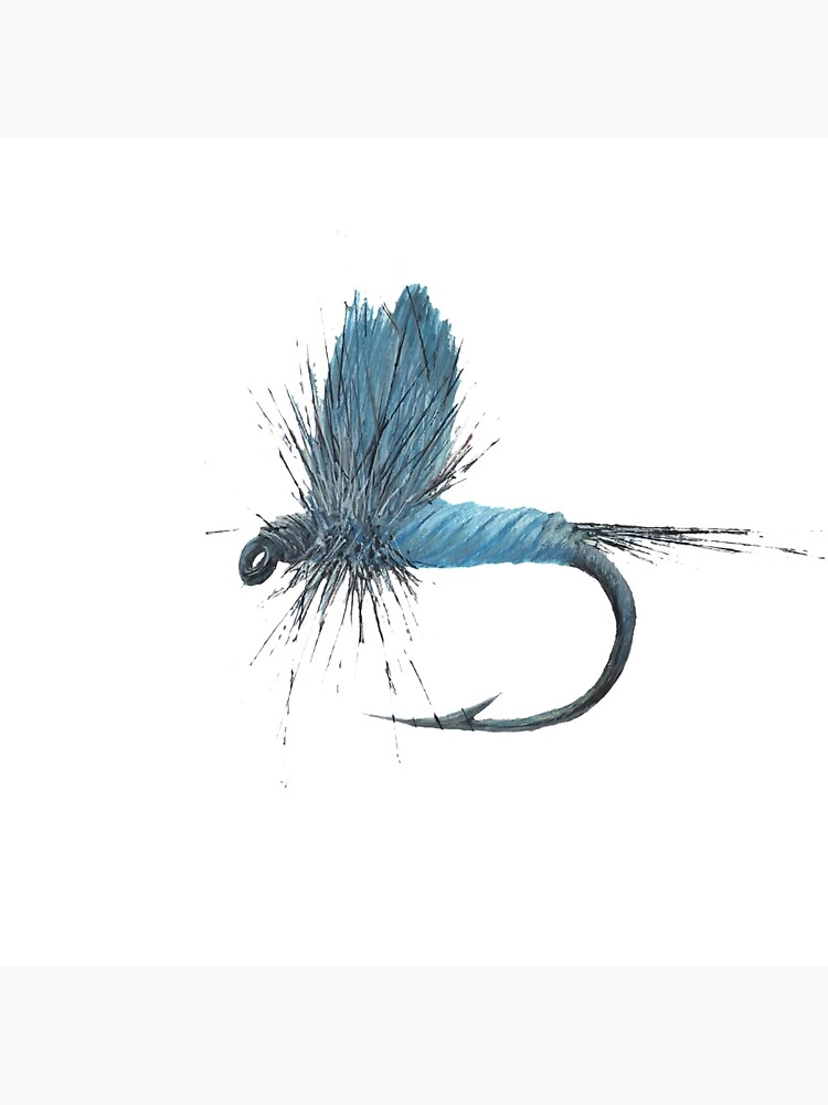 watercolor gift fishing dry fly dry fly Blue Dun Dry Fly Print fly fishing