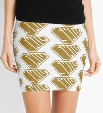 Smile SuperEmpowered (Gold) Mini Skirt