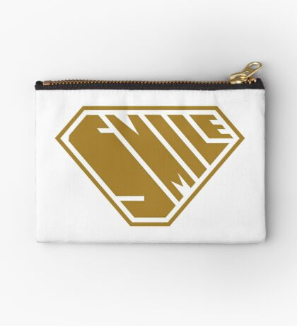 Smile SuperEmpowered (Gold) Zipper Pouch