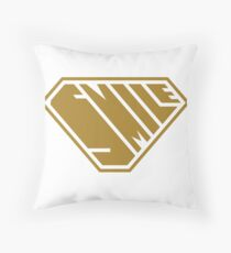 Smile SuperEmpowered (Gold) Throw Pillow