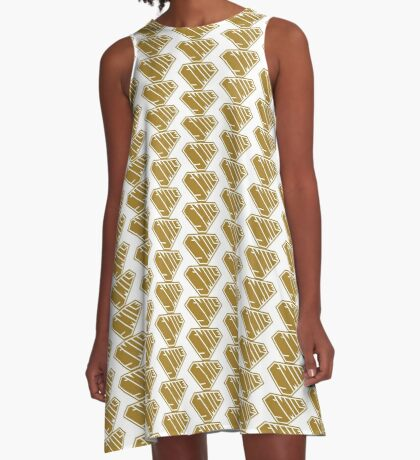 Smile SuperEmpowered (Gold) A-Line Dress