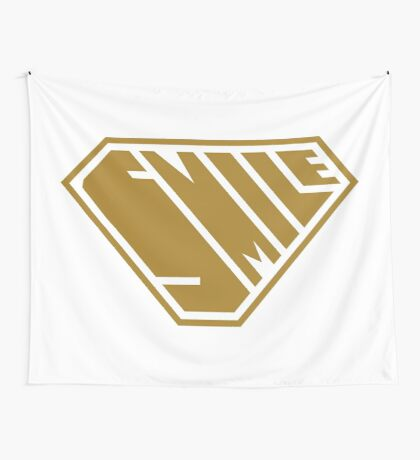 Smile SuperEmpowered (Gold) Wall Tapestry
