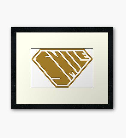 Smile SuperEmpowered (Gold) Framed Art Print