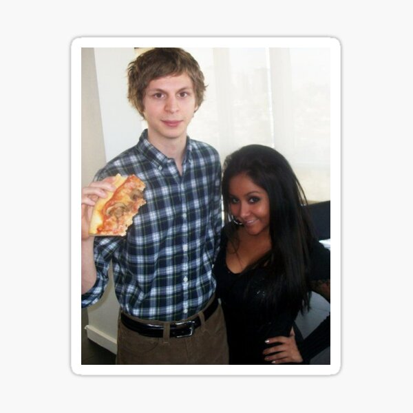 michael cera and snooki Sticker