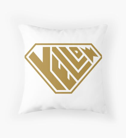 Yellow SuperEmpowered (Gold) Throw Pillow