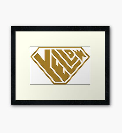 Yellow SuperEmpowered (Gold) Framed Art Print
