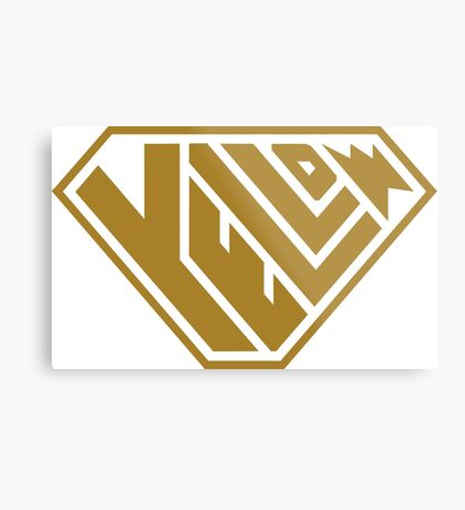 Yellow SuperEmpowered (Gold) Metal Print